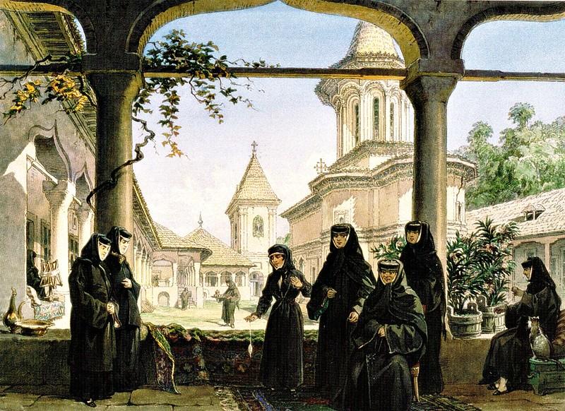 Amedeo Preziosi - Manastirea Surpatele (c.1869)