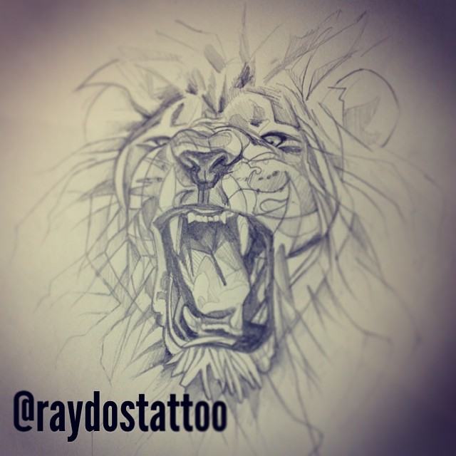 Lions Roaring Drawing Roar Drawing Tattoo Lion