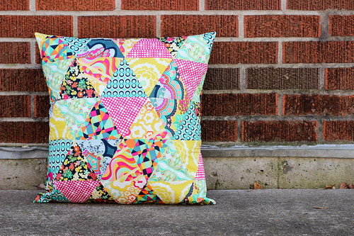 Equilateral Triangle Pillow by Jeni Baker