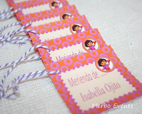 Tarjeta Gracias por venir Dora Merbo Events