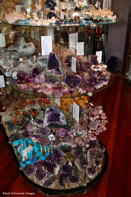 Gemstones in Cabinet, Crystal Castle, Mullumbimby, NSW