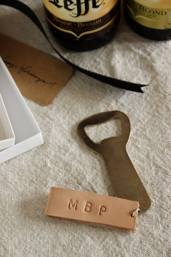 Fabric Paper Glue | DIY Monogrammed Leather Bottle Opener