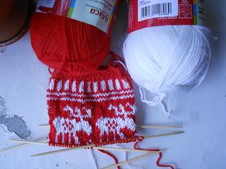 еще раз новый краснобелый носок