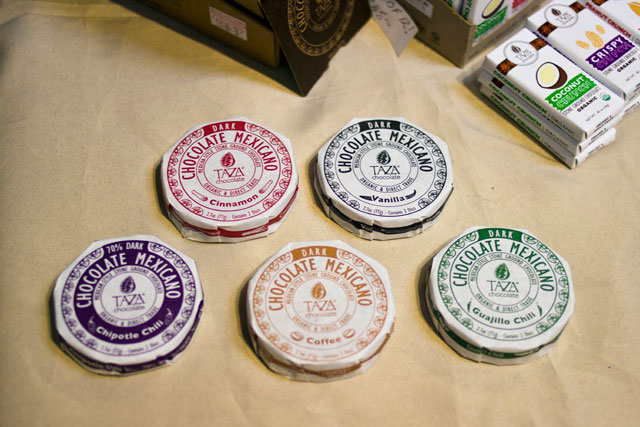 flavoured chcocolate discs