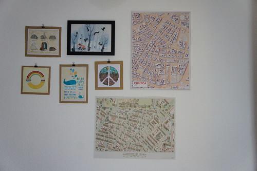 Mapas de Walk with me, ilustraciones de Threadless
