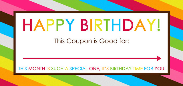 Free Printable Birthday Coupons - Overstuffed