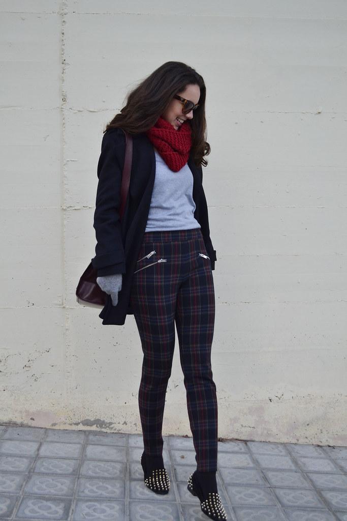 Pantalones de cuadros escoceses