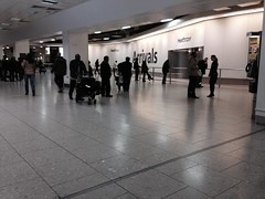 Arrival lobby of London Heathrow Airport Terminal 4