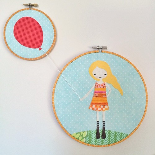 When I saw this in the book Hoop La! I had to make it. #hoopla #embroidery #embroideryhoop #applique #craft