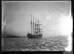 Five-masted American barquentine MONTEREY in Sydney Harbour