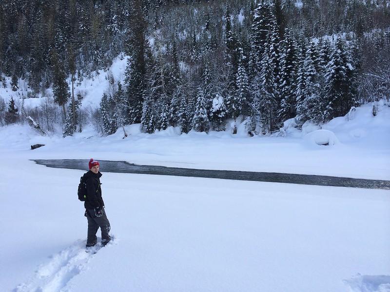 Schneeschuhwanderung am Blue River