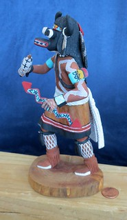 Hopi Buffalo Kachina, Side View