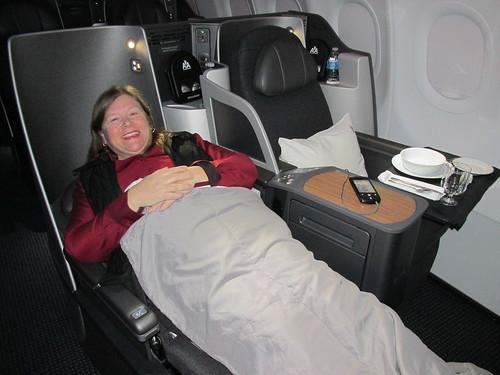 Nancy Brown AA 1st Class Lie-flat seat