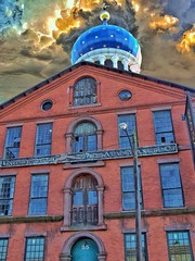 Hartford Connecticut ~ Colt Armory ~ Blue onion dome, rebuilt in 1867