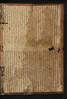 Vellum pastedown of  Baptista Mantuanus: Opera