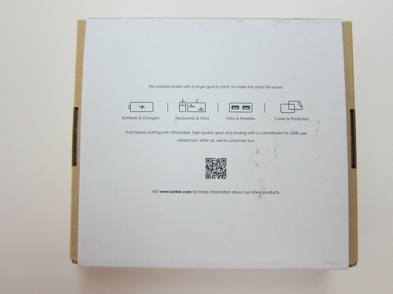 Anker Ultra-Slim Qi-Enabled Wireless Charging Pad - Box Back