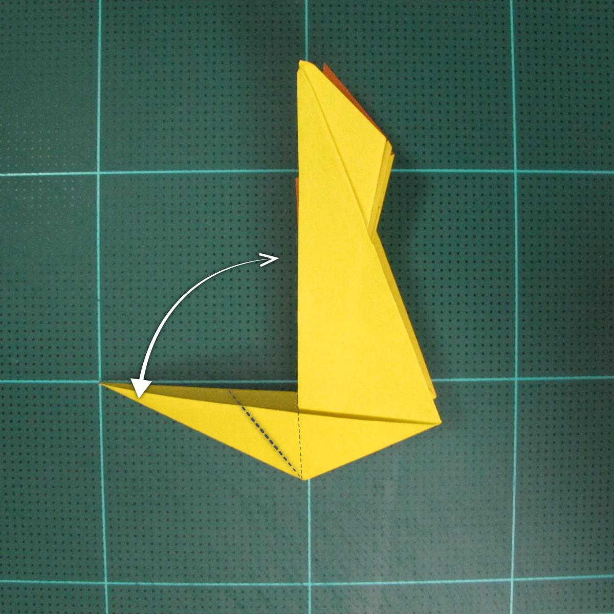 วิธีพับกระดาษเป็นรูปนกยูง (Origami Peacock - ピーコックの折り紙) 025
