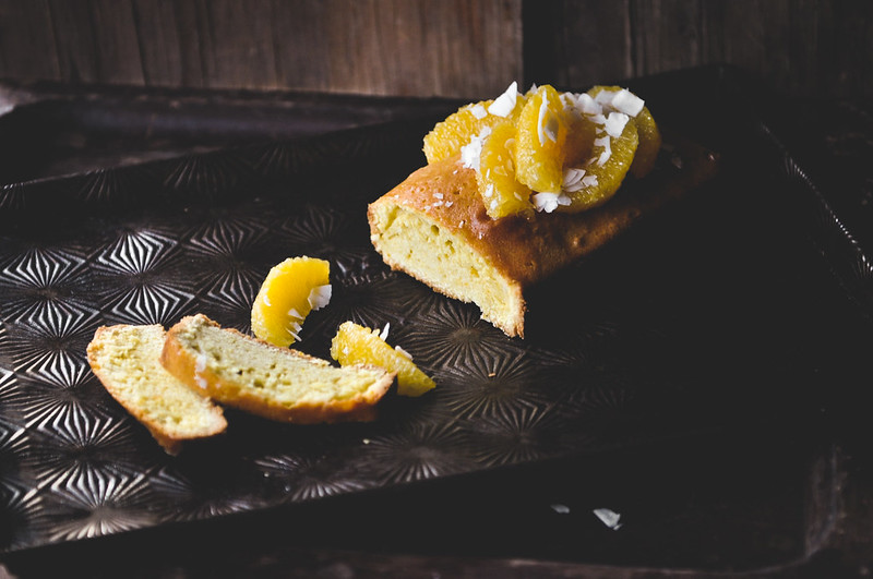 Orange Pound Cake Sliced Horizontal