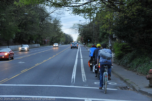 Bike Advisory Committee rides downtown-37