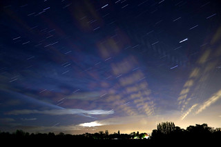 Star and cloud trails