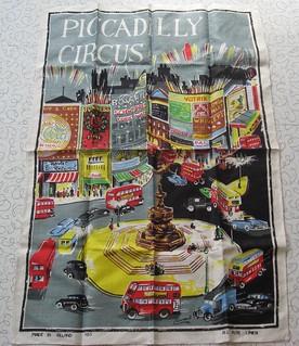 Lamont Piccadilly Circus Irish Linen tea towel.