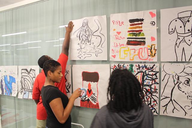 Black men students teen art council naked moms