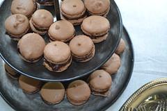 chocolate truffle(0.0), produce(0.0), icing(0.0), dish(0.0), cookie(0.0), praline(0.0), edible mushroom(0.0), baking(1.0), baked goods(1.0), cookies and crackers(1.0), food(1.0), macaroon(1.0), dessert(1.0), chocolate(1.0), snack food(1.0),
