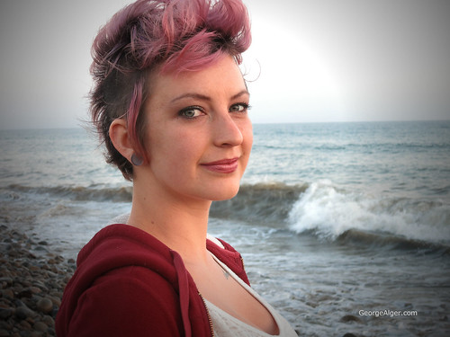 Purple-Haired Beach Girl, by George Alger