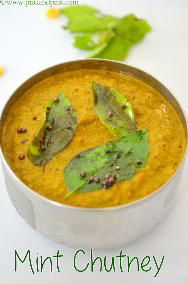 Pudina Chtuney Recipe with coconut and tomato - Indian ...