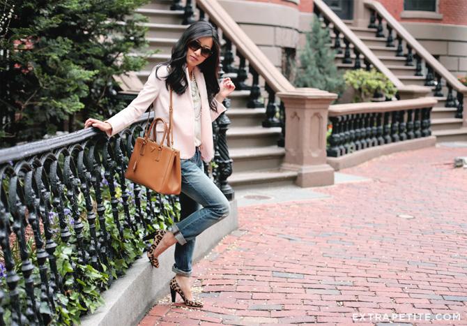 pink blazer boyfriend jeans3