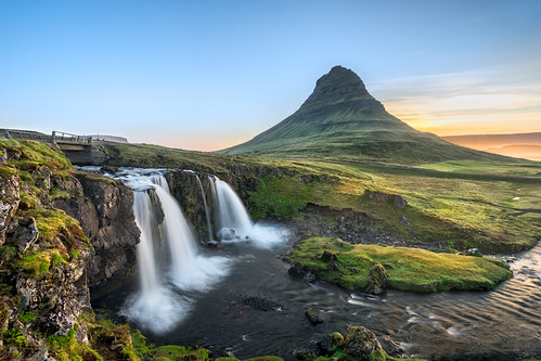 travel blue sunset brown moon mountain color contrast photoshop sunrise 35mm landscape photography waterfall iceland google colorful long exposure dynamic outdoor sony creative full mount moonrise workshop e software hour frame nik serene fe shining kirkjufell a7 colby masking 1635 luminosity a7ii efex a7r kirkjufellfoss