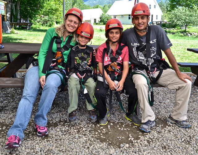 family of adventurers - Wilderness tours - Arbor Trek Smugglers Notch, Vermont