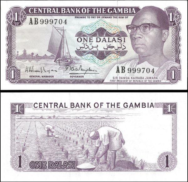 1 Dalasi Gambia 1971-87, Pick 4
