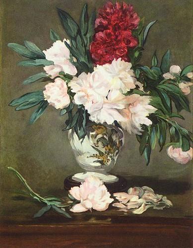 Peonies-in-Vase - Edouard Manet