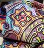 MANDALA TILES CHECK SUNNY FALL closeup 2 minky by paysmage