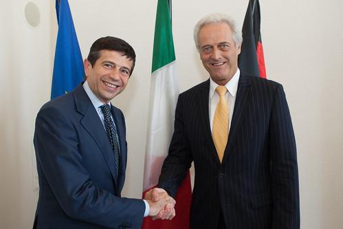 Il ministro delle Infrastrutture e dei Trasporti italiano Maurizio Lupi incontra a Berlino il ministro dei trasporti tedesco Peter Ramsauer