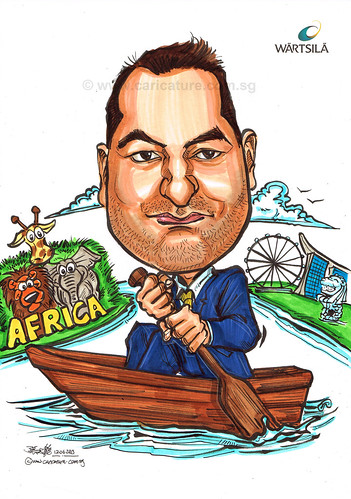 Mr Arnauld caricature for Wartsila