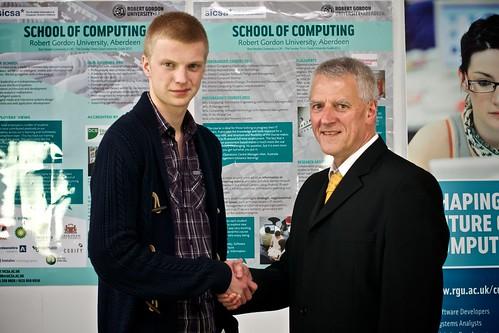 Bobby Stroud awarded XMA Prize, presented by David Davidson