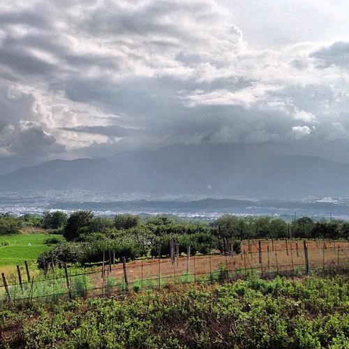 曇ってて山が見えないけど天気が良かったら最高だな。夜景も良さげ