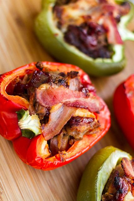 BBQ Pork Stuffed Peppers