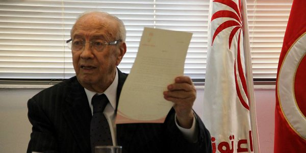Beji Caid Essebsi, July 4, 2013. Image courtesy Nidaa Tounes Facebook page