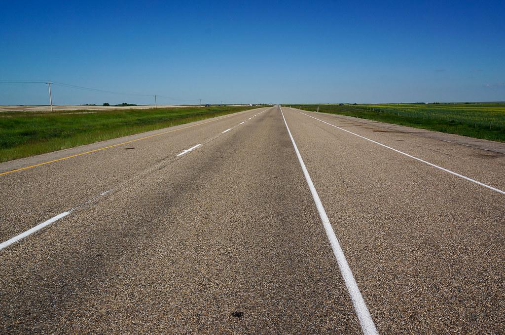 Highway 1. Transcanada. Alberta