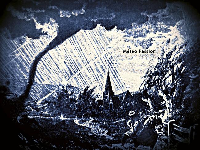 illustration de la tornade du 4 juillet 1905 à Cravant dans le Loiret météopassion