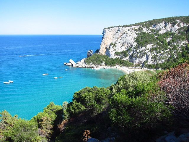 Cala Luna, as Viewed from the Coastal Hiking Trail