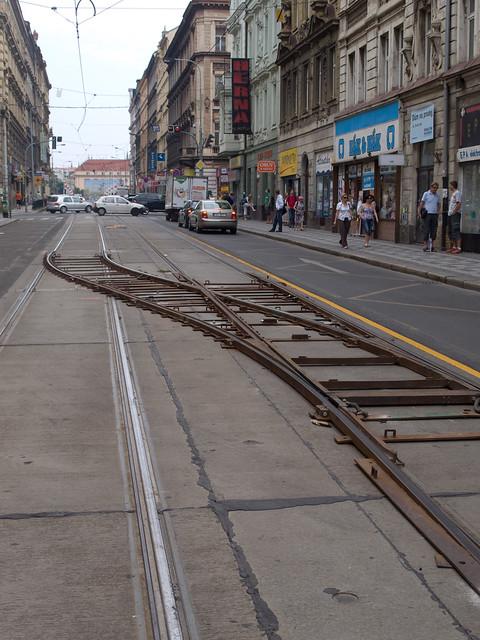 old tram prague street - photo #35