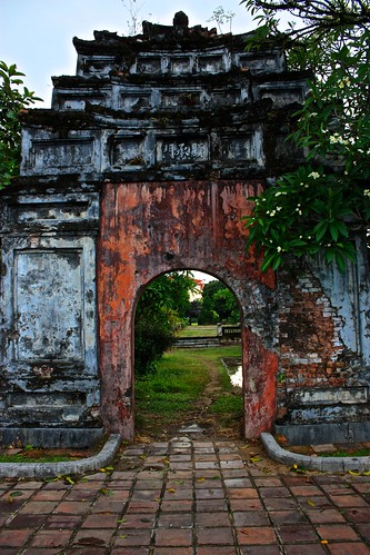 Gate to the Forbidden City in the Citadel in Hue