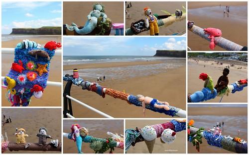 yarn bombing, Saltburn pier