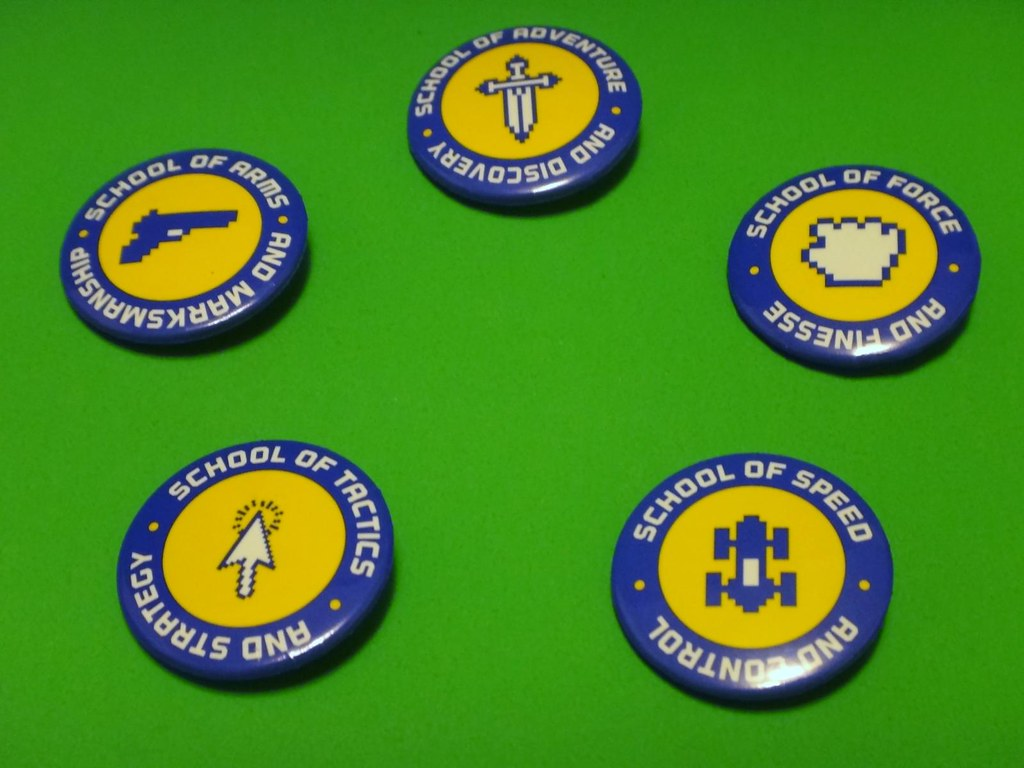 Loot Crate July 2013 Video Game High School buttons