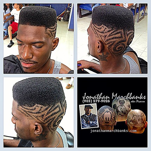 Picassos Hair Art High Top Fade With Freestyle Design No Flickr