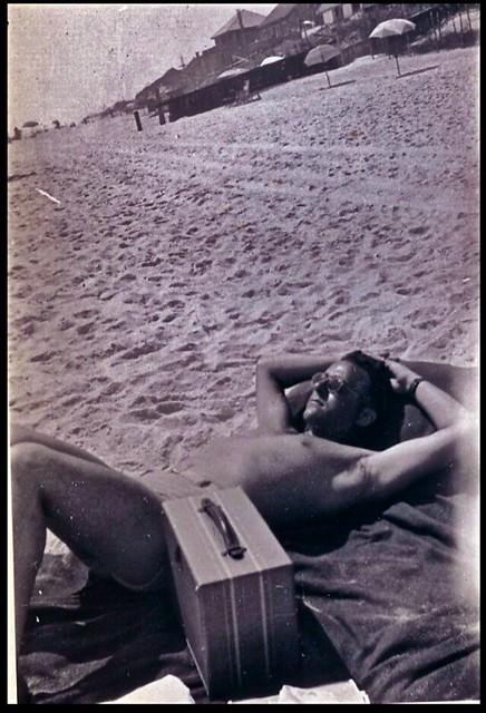 Vintage 1950s Photo: Sunbather